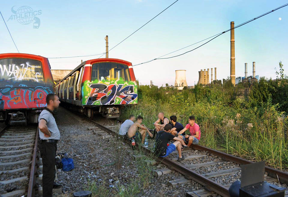graffiti subway train bucharest romania athletics yard chill
