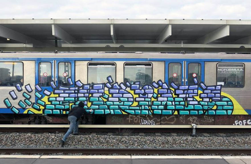 graffiti train subway amsterdam holland ncformula furious