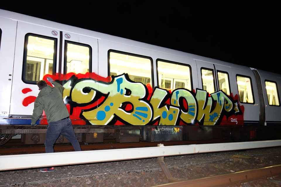 graffiti subway train copenhagen denmark blow ncformulatumblr.com