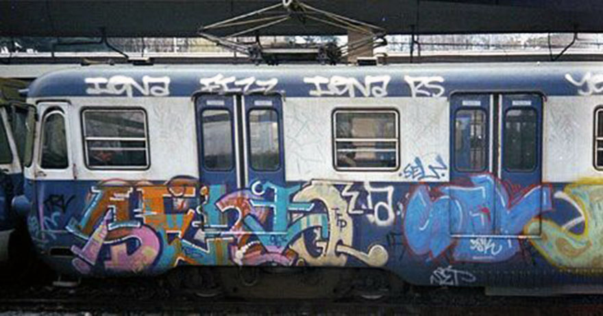 graffiti train subway rome goldenage 1996 sento sel history italy