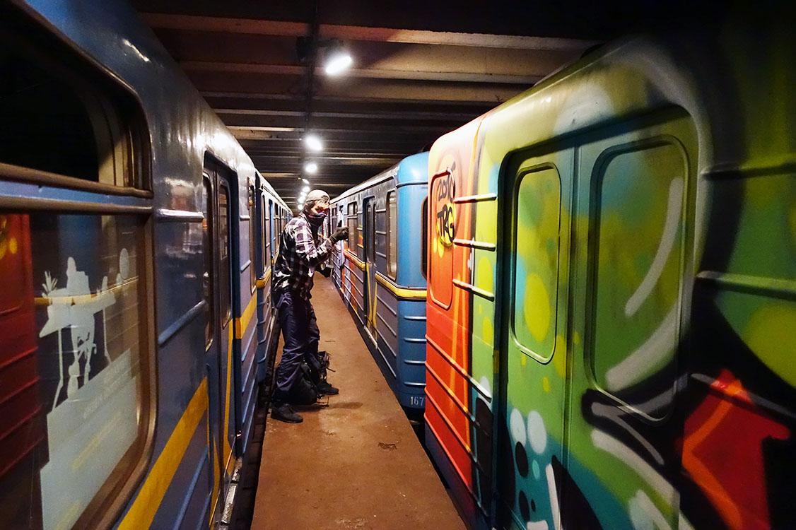 graffiti train subway kiev ukraine 2016 action tunnel