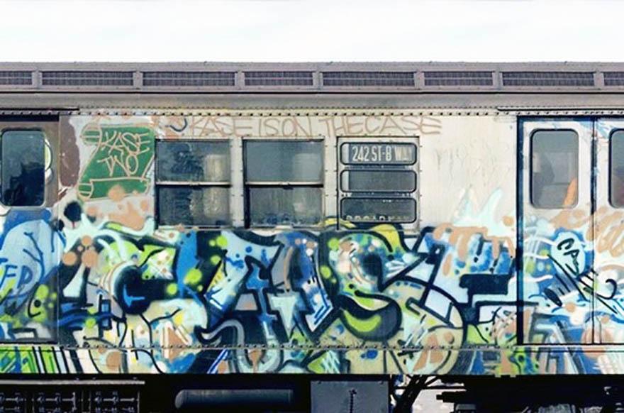 graffiti subway train classic nyc newyork usa case2