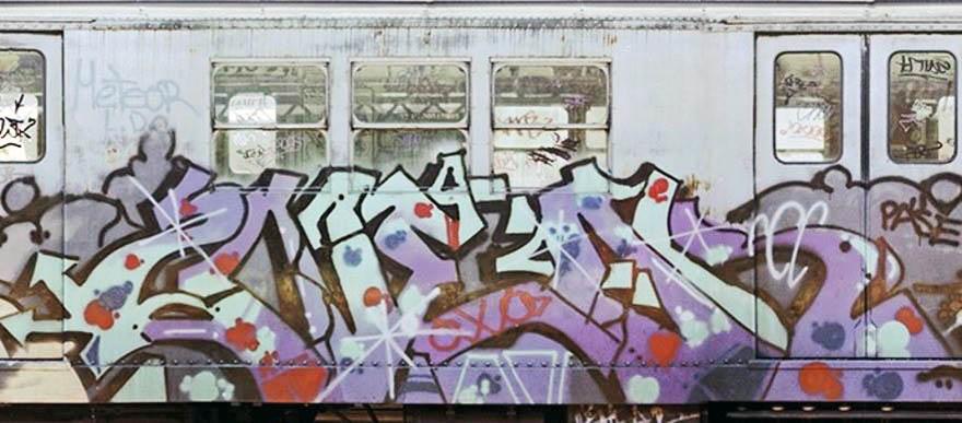 graffiti subway train classic nyc newyork usa 2near