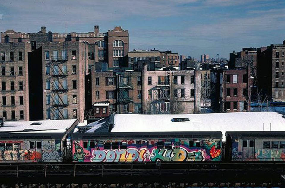 graffiti train subway metro dondi kid classic running usa nyc  newyork goldenage