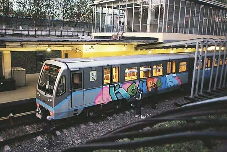 graffiti train subway writing moskow russia kgm rcls