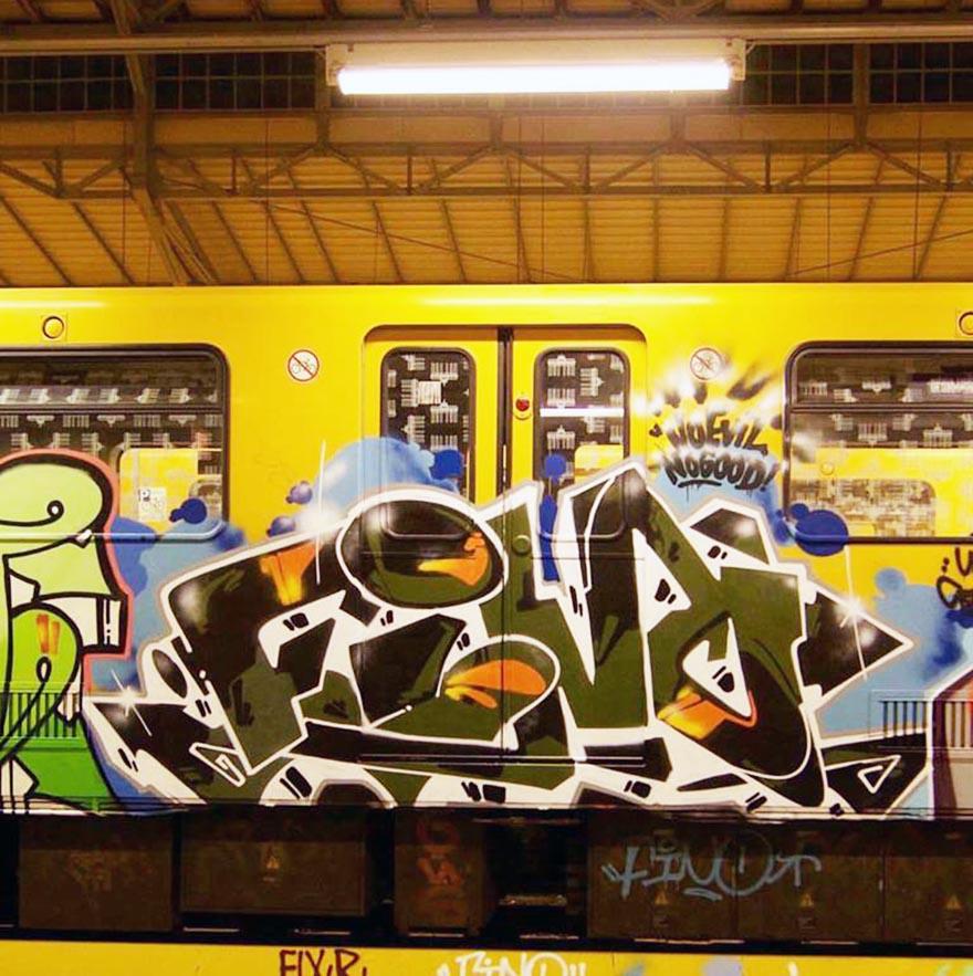 graffiti train subway berlin germany fino