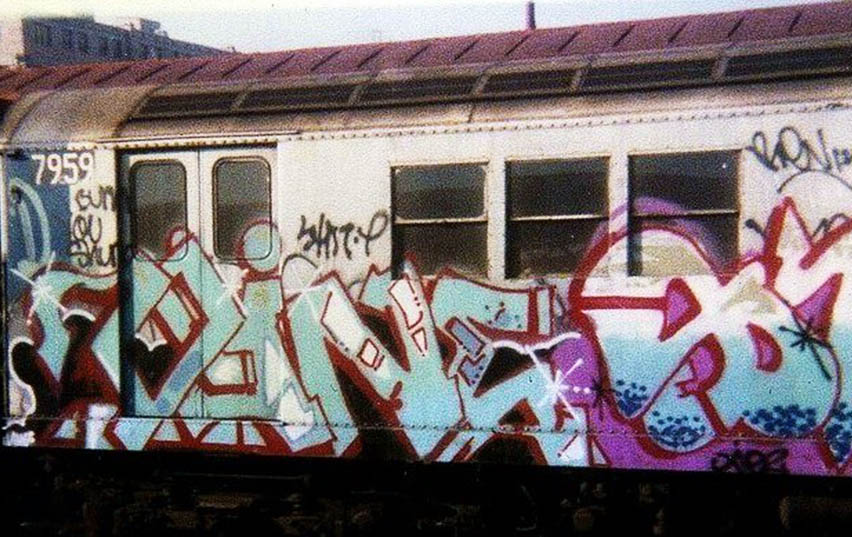 graffiti writing train subway nyc newyork classic usa