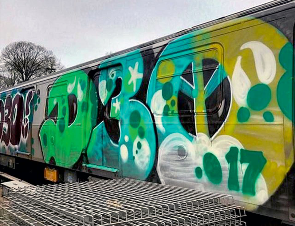 graffiti writing train subway nyc newyork d30 2017