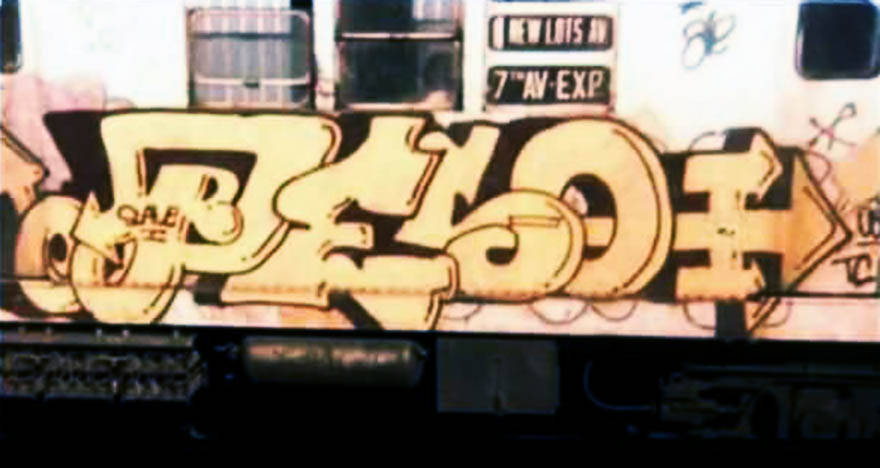 graffiti train writing subway nyc newyork usa classic 70s peso