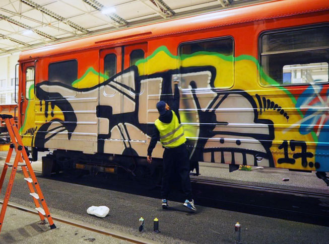 graffiti train subway writing fy 2107