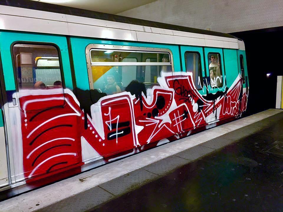 graffiti train subway writing paris france ner 2017