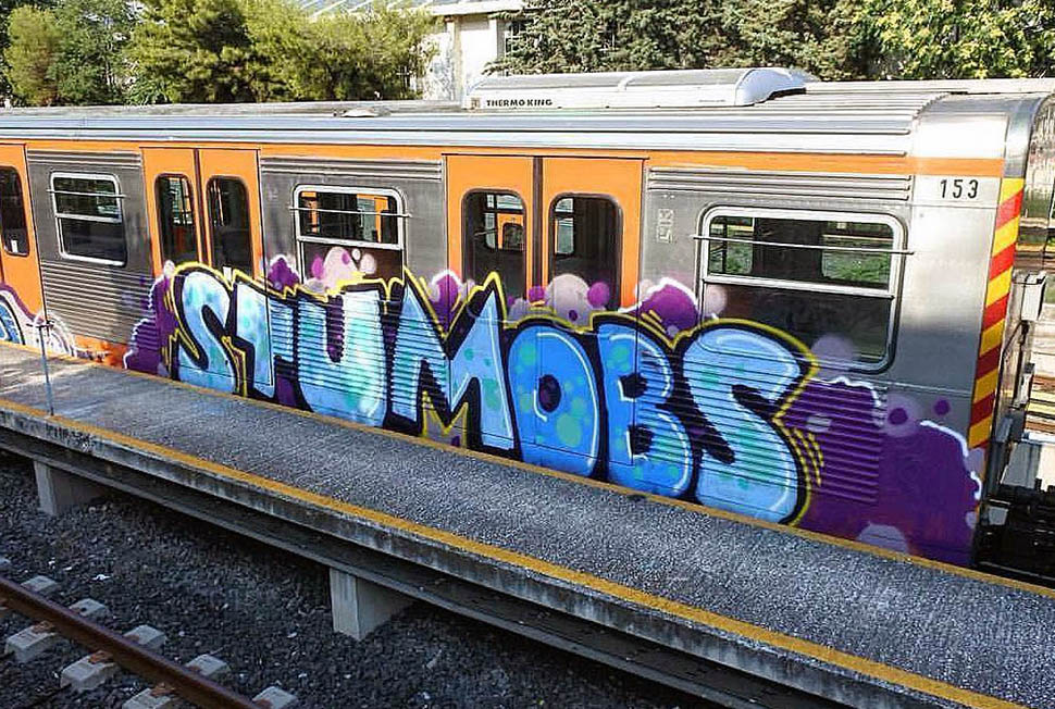 graffiti train subway writing metro athens greece stumobs 2017