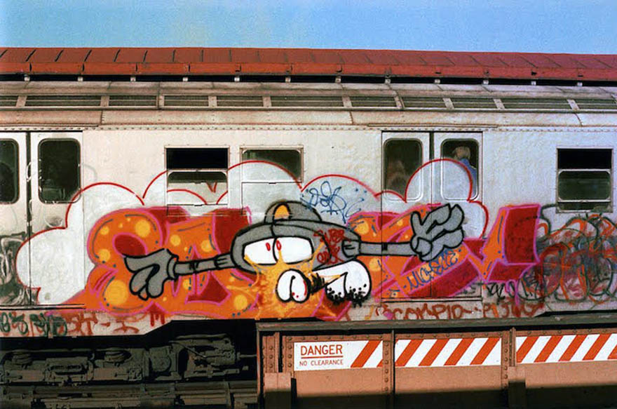 graffiti train subway writing metro classic don1 rip ny newyork usa