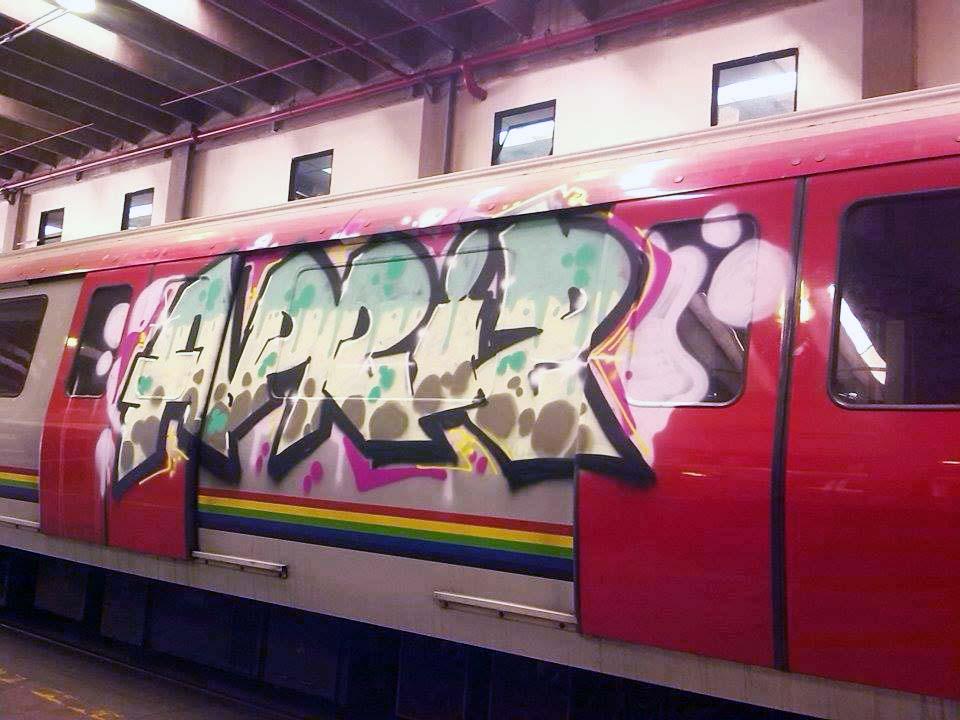 subway graffiti writing train caracas venezuela southamerica