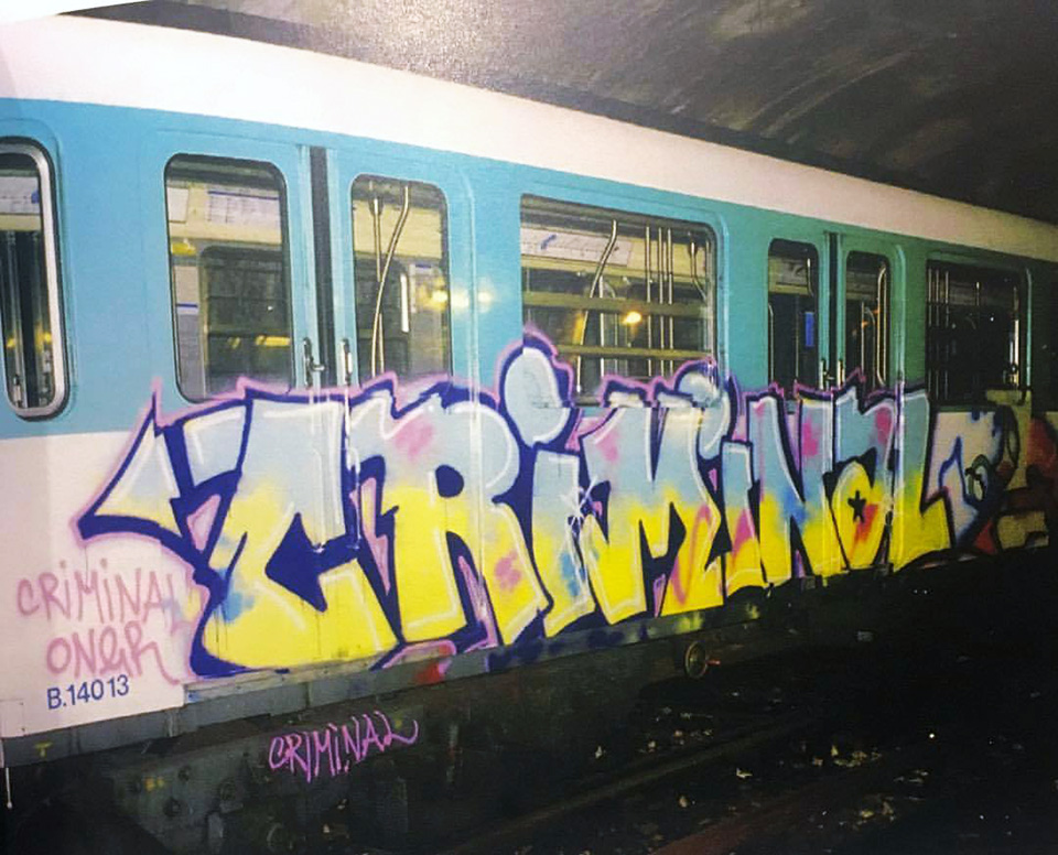 graffiti writing subway train paris france criminal uv tpk