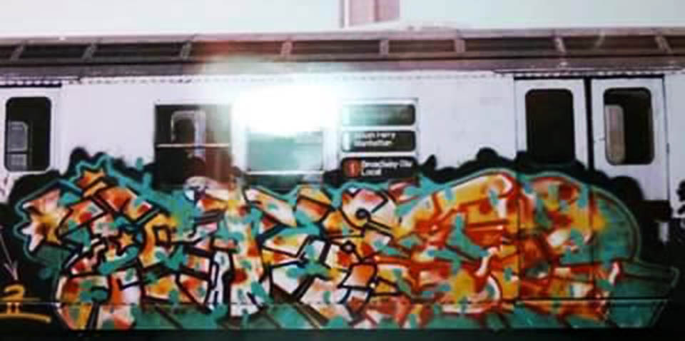 graffiti train subway writing usa nyc newyork rare classic phase2 wildstyle
