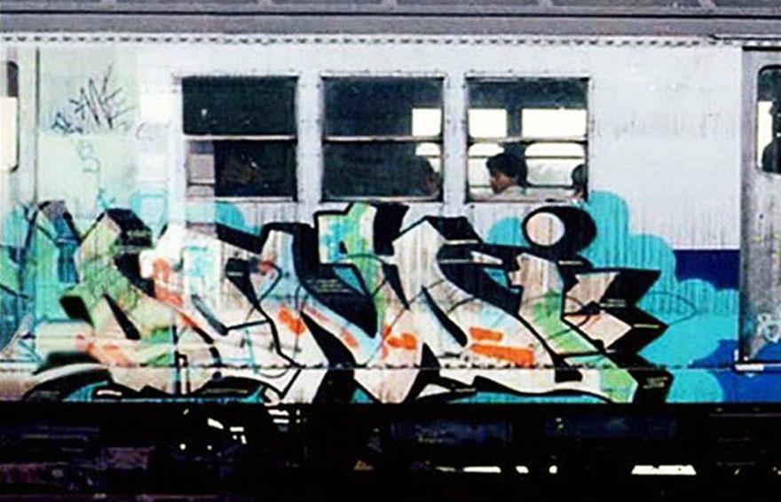 subway train graffiti writing classic dondi masterpiece stylemaster nyc newyork usa