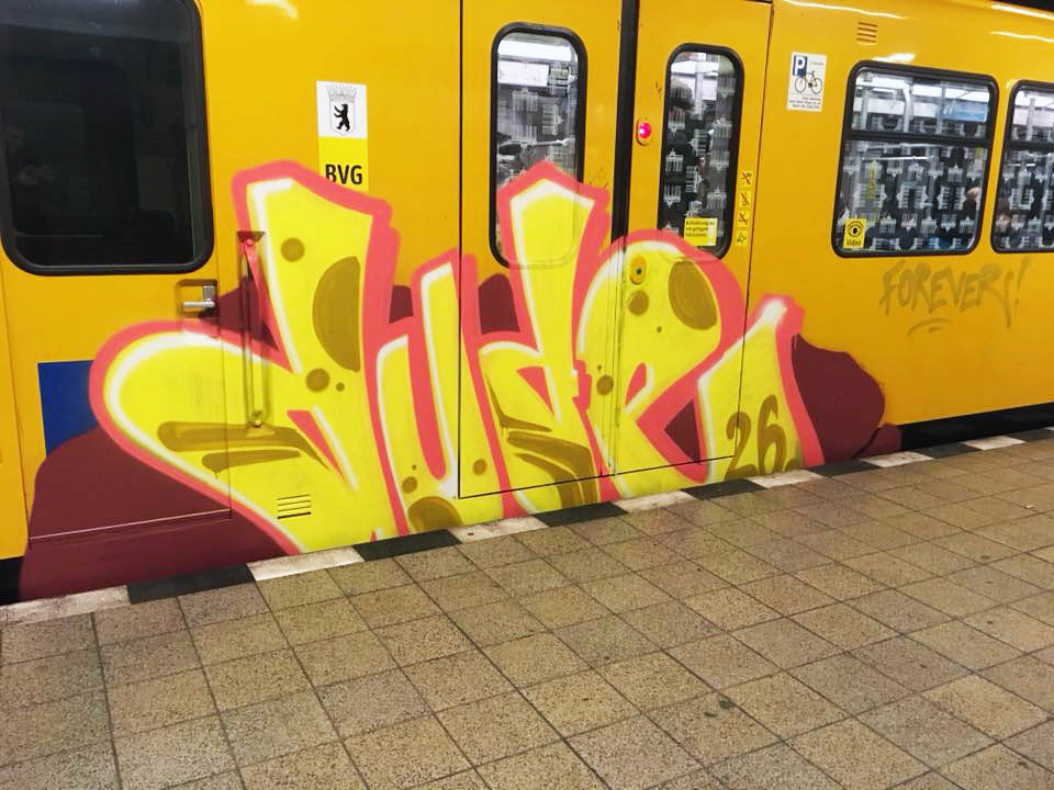 train subway graffiti writing berlin germany dude rip
