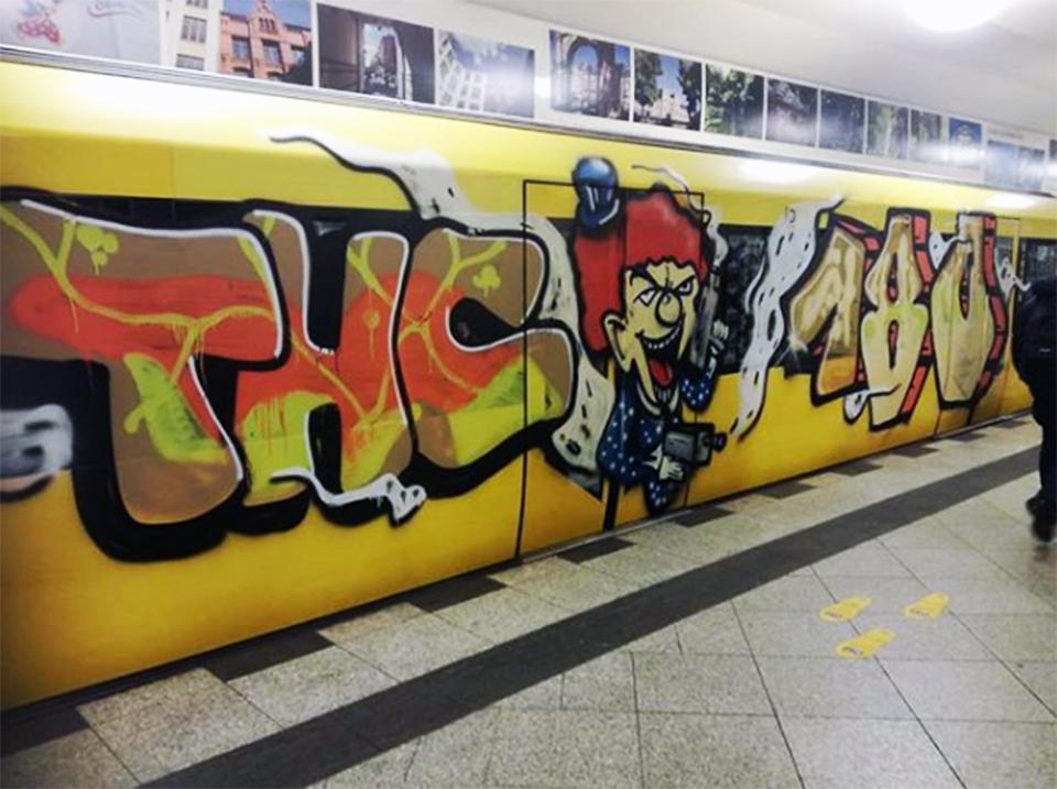 graffiti train subway writing berlin germany thc 180
