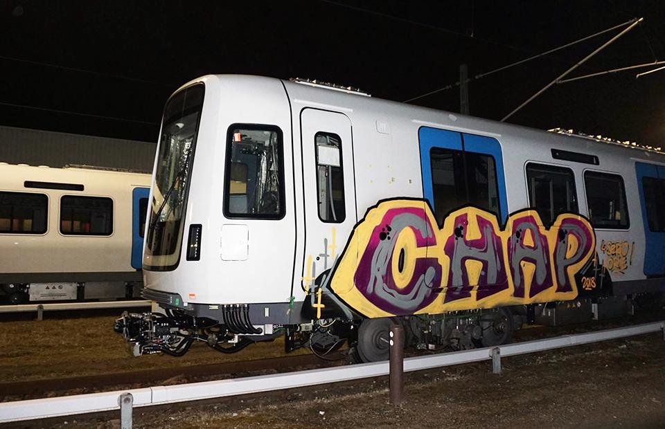 graffiti train subway writing stockholm sweden chap newmodel 2018