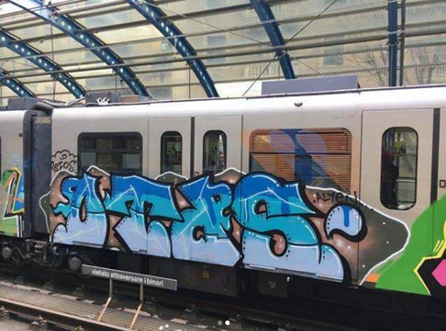 graffiti writing trains subway genova italy running otds 2018
