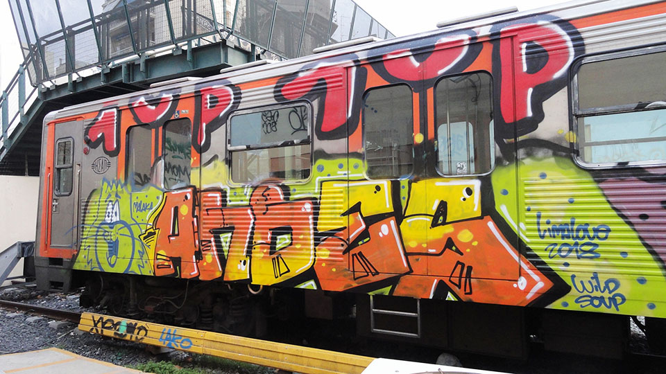 graffiti writing trains subway athens greece andes 1up limalove 2018