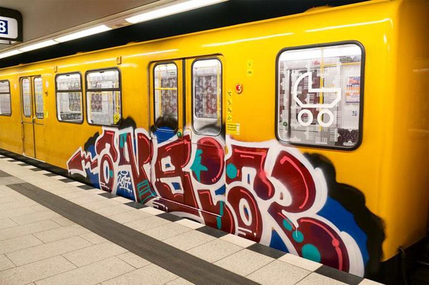 graffiti writing trains subway berlin germany ansiar 2017