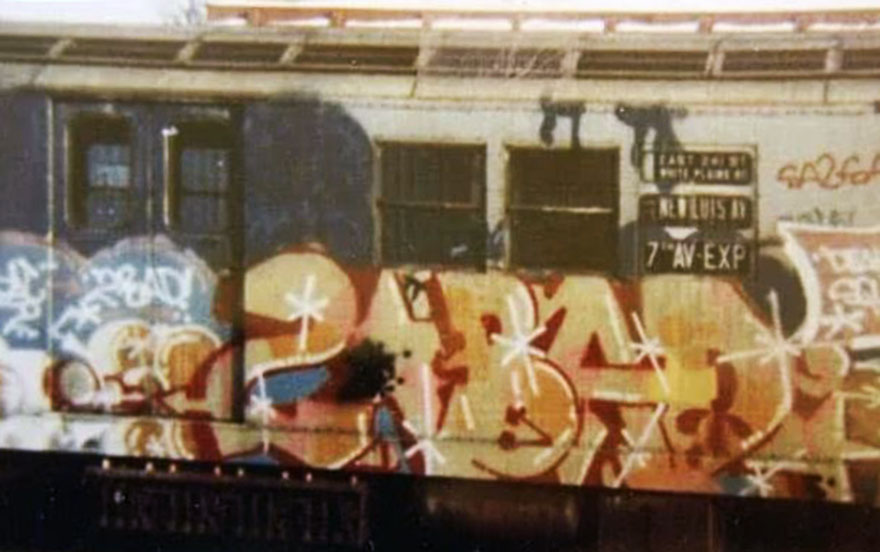 graffiti writing train subway art 2bad classic nyc newyork usa