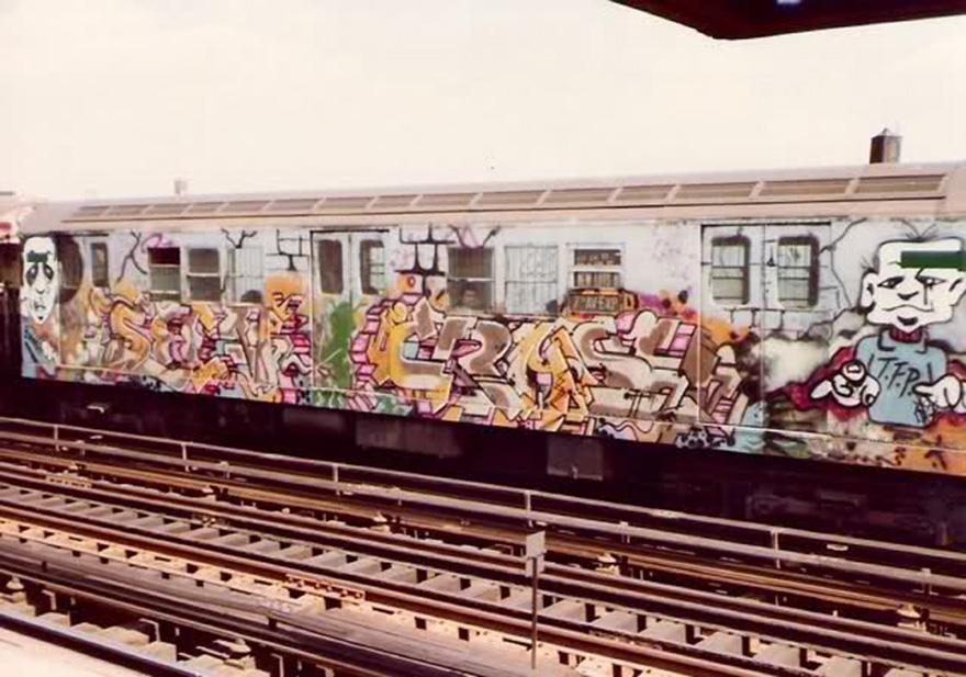 subway train graffiti writing nyc newyork classic running seen crash tfp 80s