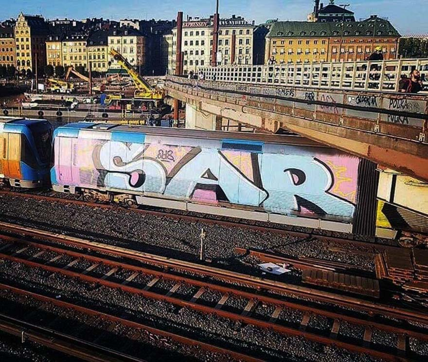 graffiti train subway writing stockholm sweden wholecar