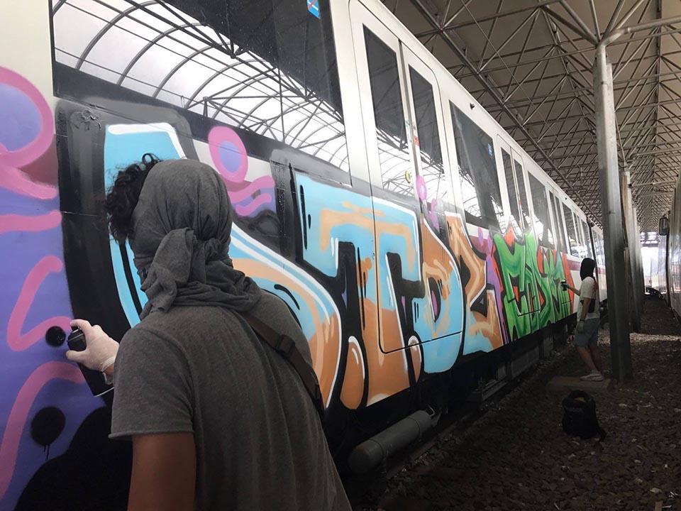 graffiti subway train writing rome italy otds action 2018