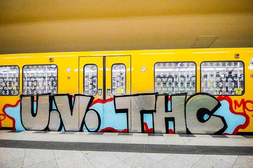 writing graffiti subway berlin germany 2018 uv tpk