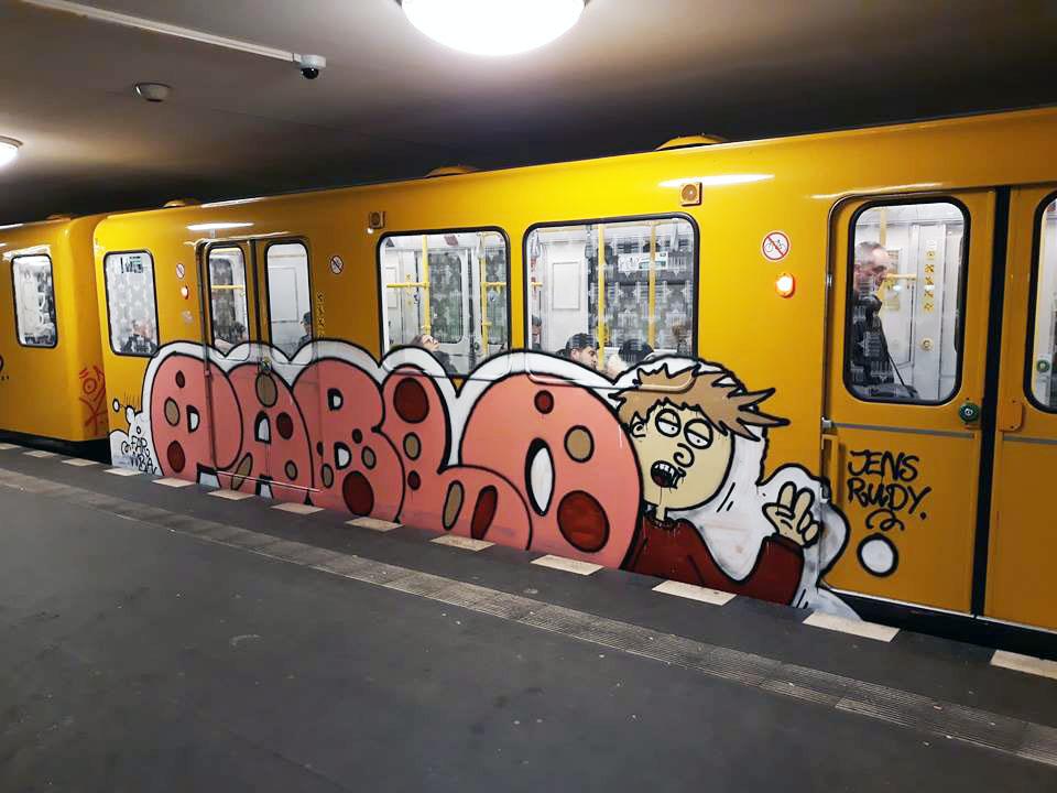 writing graffiti subway train subwayart berlin germany