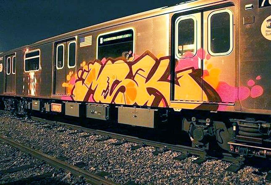 writing graffiti subway train subwayart newyork nyc usa msk rime