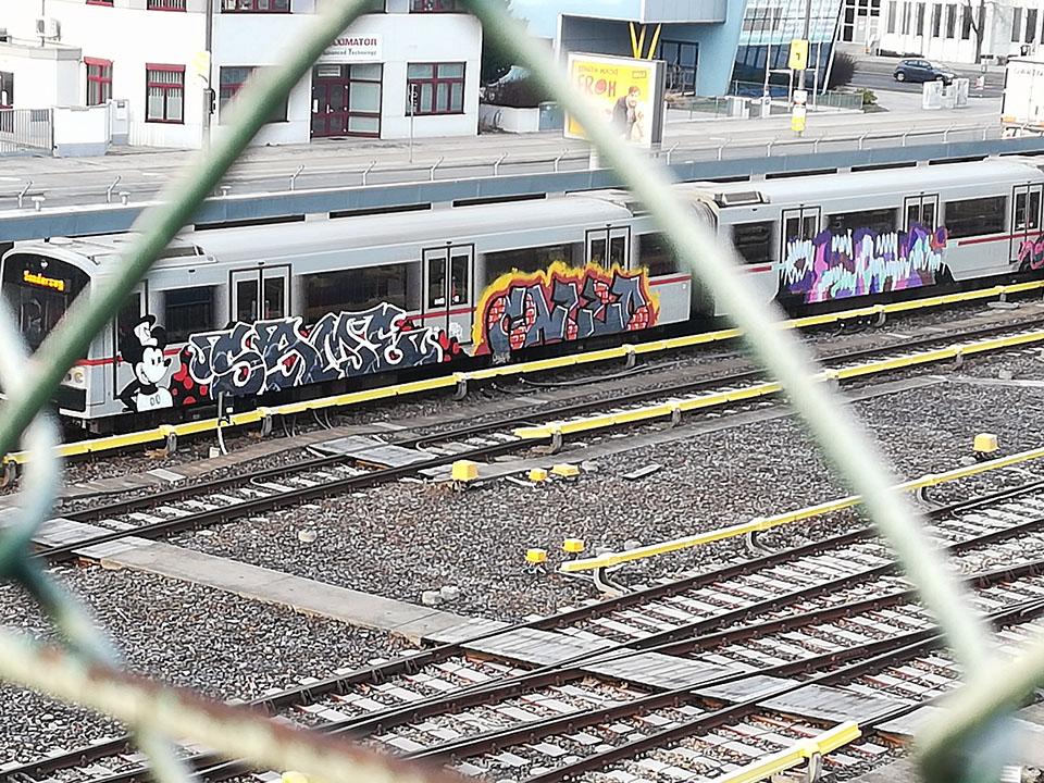 writing graffiti subway train subwayart vienna same