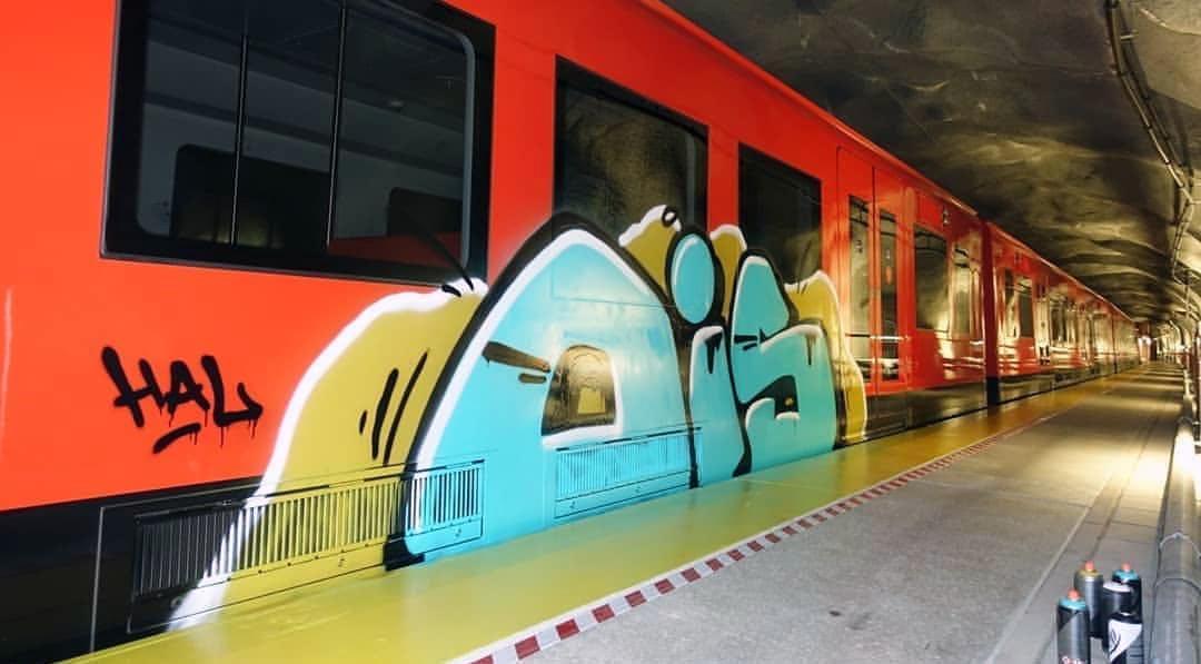 graffiti writing train subway subwayart helsinki finland