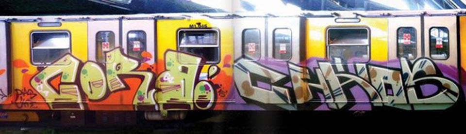 graffiti writing train subway subwayart naples italy