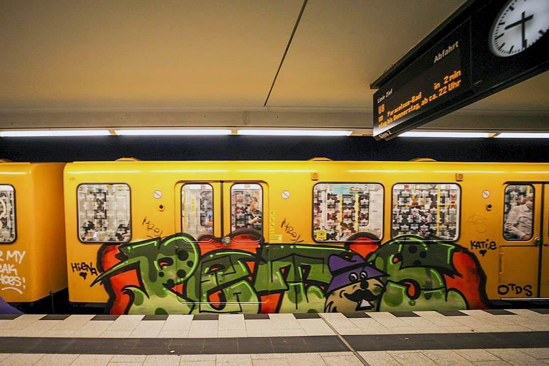 graffiti writing subway subwayart subwaytrain petos berlin 2019