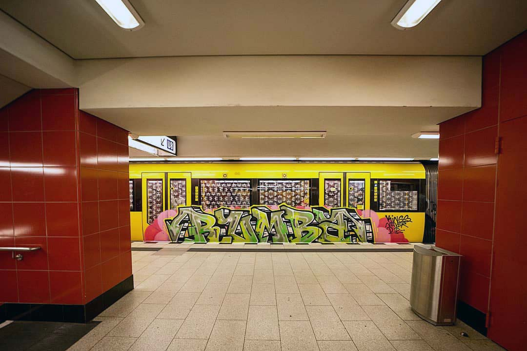 graffiti writing subway subwayart subwaytrain rumba king never die berlin 2019