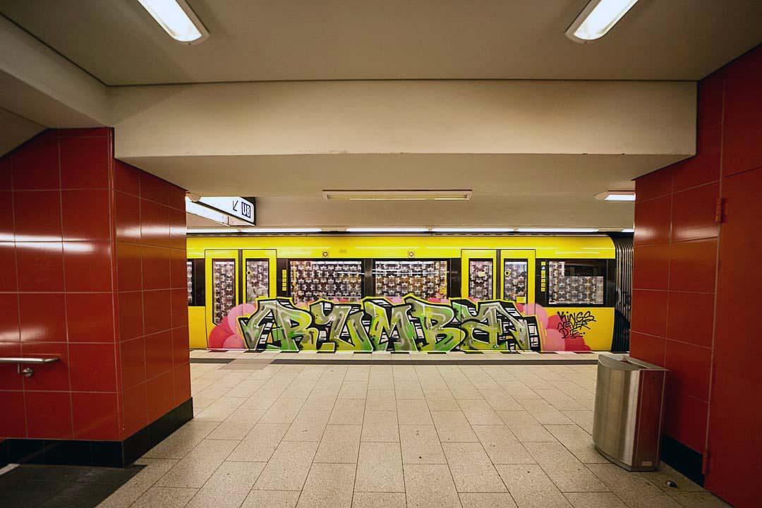 graffiti writing subway subwayart subwaytrain rumba king never die berlin 2019