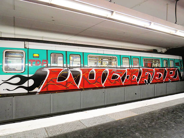 graffiti train subway writing art paris france